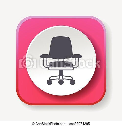 chaise, icône - csp33974295