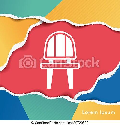chaise, icône - csp30720529