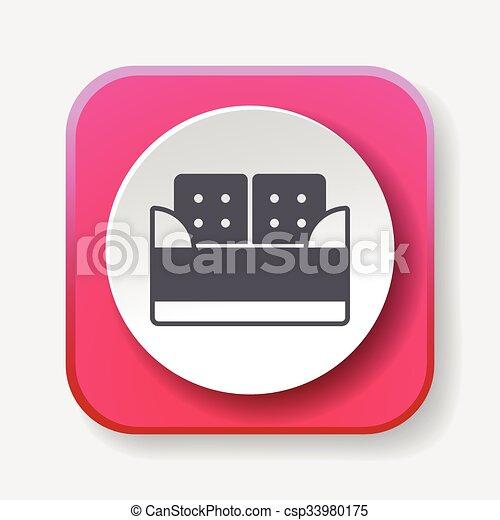 chaise, icône - csp33980175
