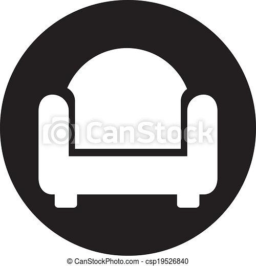 chaise, icône - csp19526840