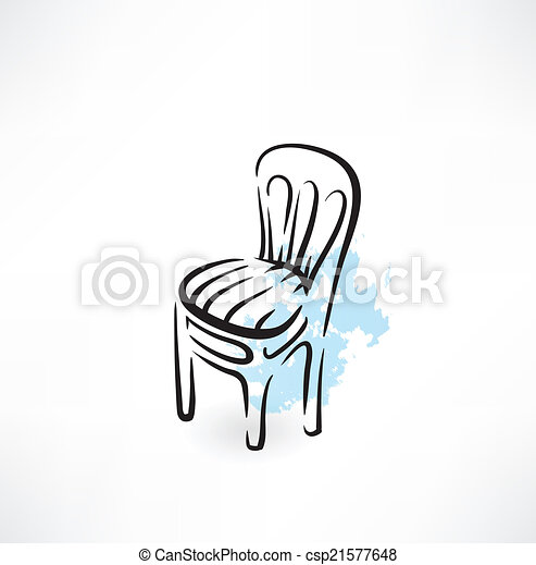 chaise, icône - csp21577648