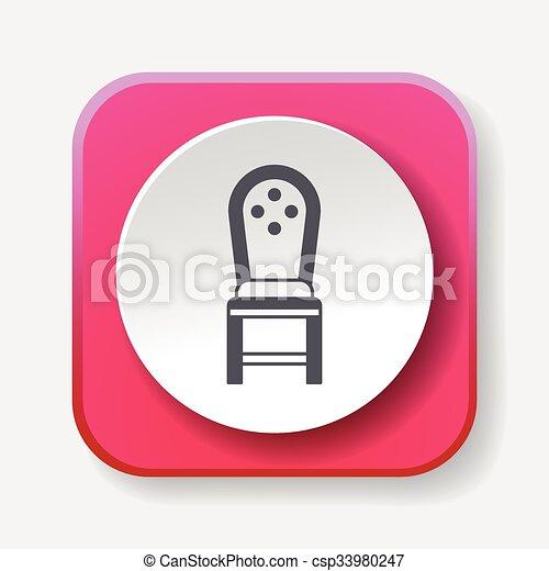 chaise, icône - csp33980247