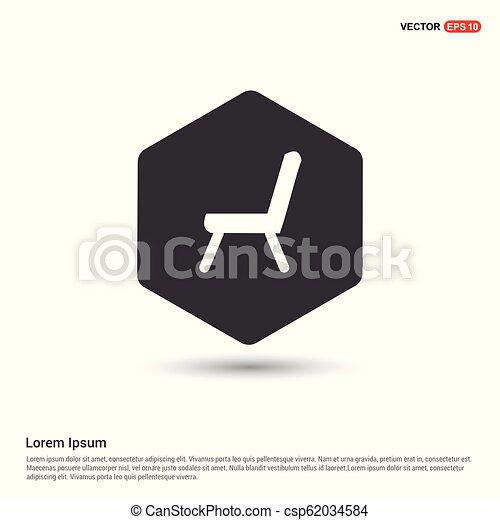 chaise, icône - csp62034584