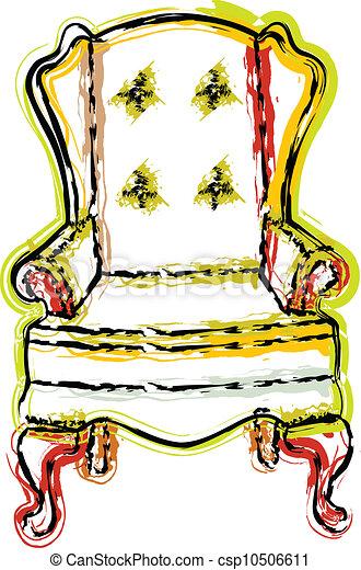 chaise, illustration - csp10506611