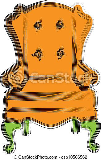 chaise, illustration - csp10506562