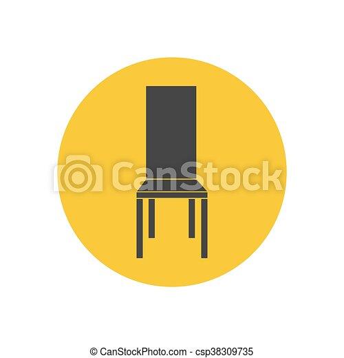chaise, illustration, cuisine - csp38309735