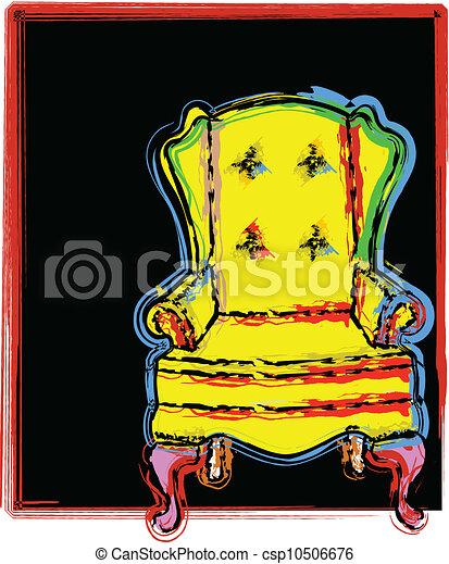 chaise, illustration - csp10506676