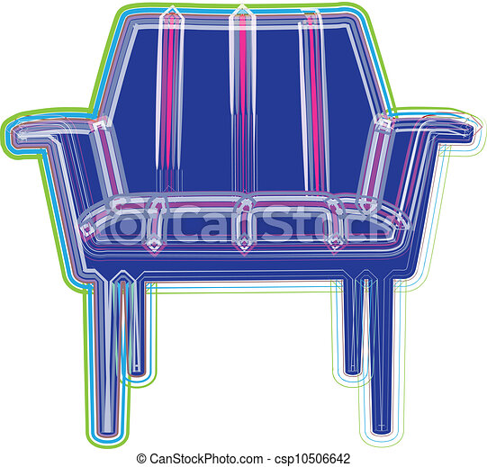 chaise, illustration - csp10506642