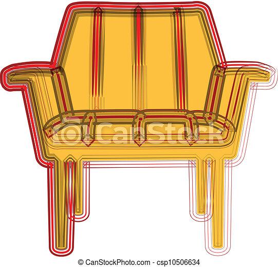 chaise, illustration - csp10506634