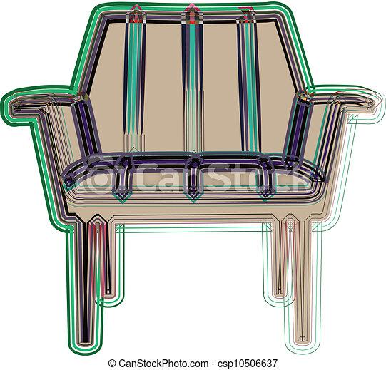chaise, illustration - csp10506637