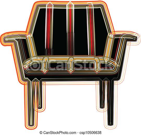 chaise, illustration - csp10506638