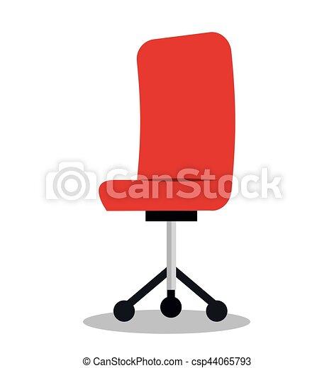 chaise, isolé, bureau, icône - csp44065793