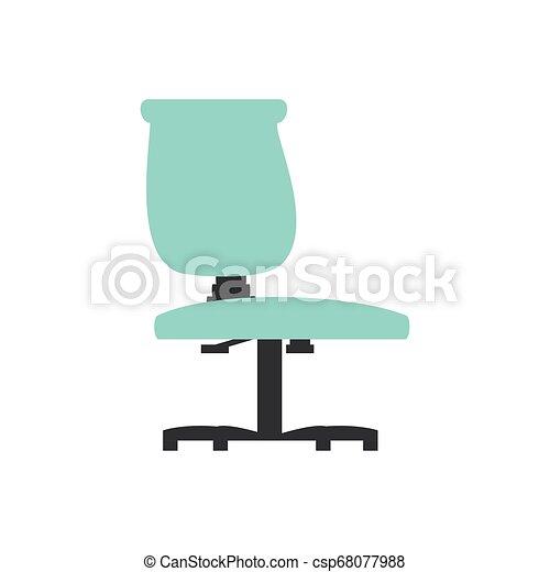 chaise, isolé, bureau, icône - csp68077988