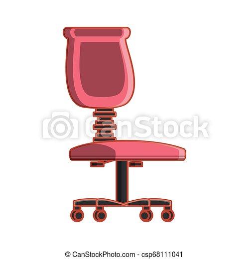 chaise, isolé, bureau, icône - csp68111041