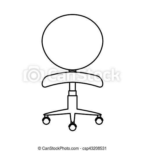 chaise, isolé, bureau, icône - csp43208531