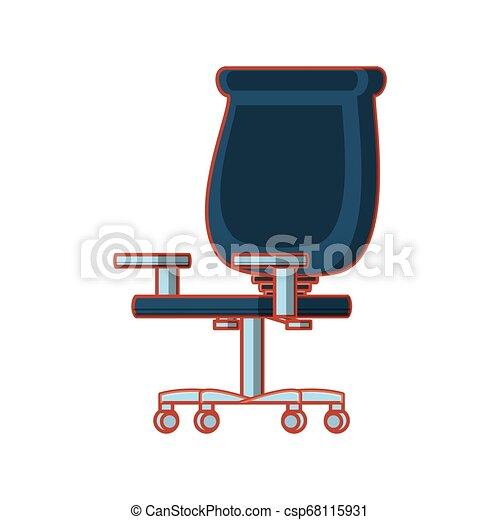chaise, isolé, bureau, icône - csp68115931
