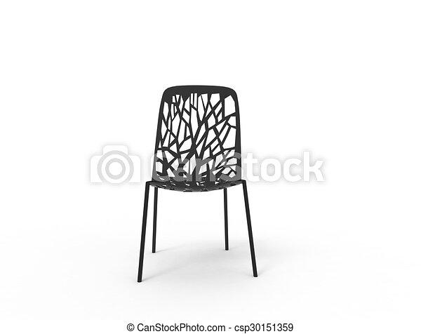 Chaise Moderne Noir Plastique