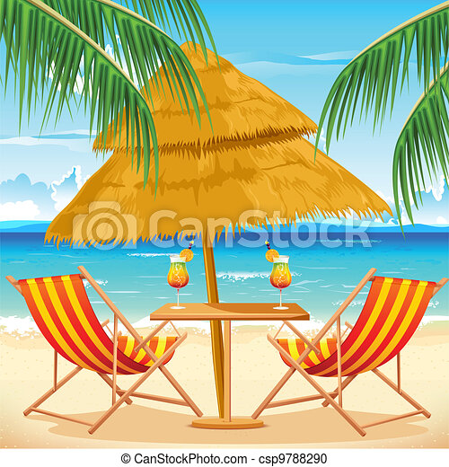 chaise, plage - csp9788290
