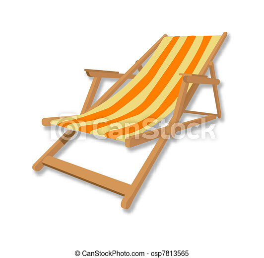 chaise, plage, illustration - csp7813565