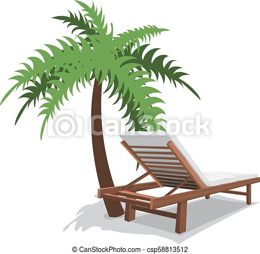 chaise plage, paume - csp58813512