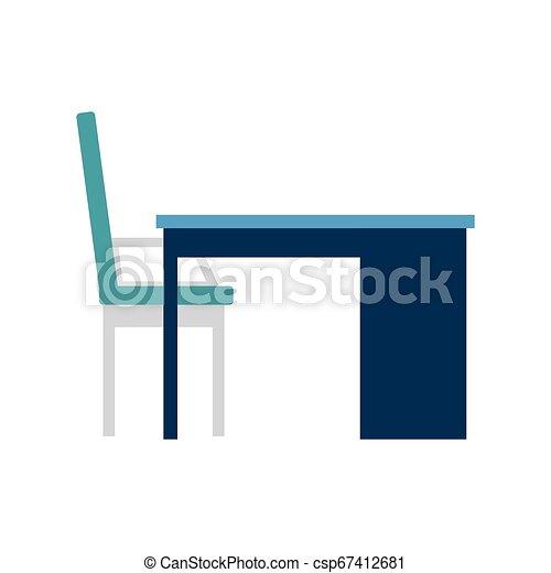 chaise, scène, bureau bureau - csp67412681