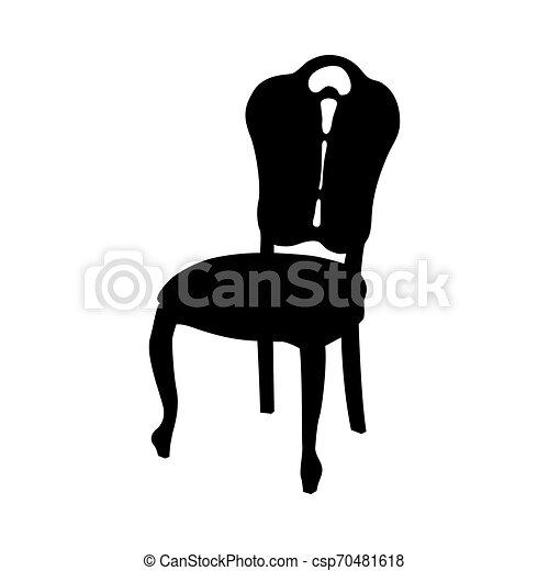 chaise, silhouette - csp70481618