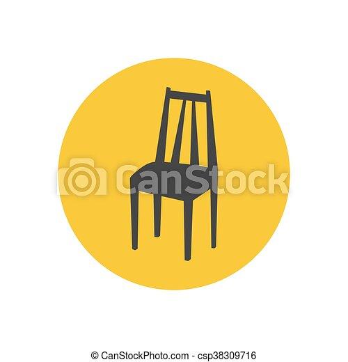chaise, silhouette, cuisine - csp38309716