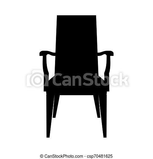 chaise, silhouette - csp70481625
