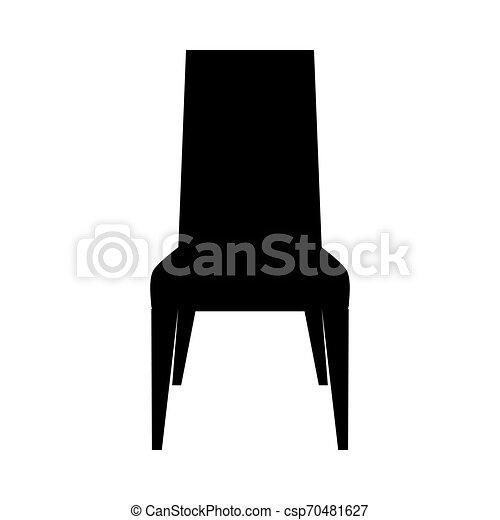 chaise, silhouette - csp70481627