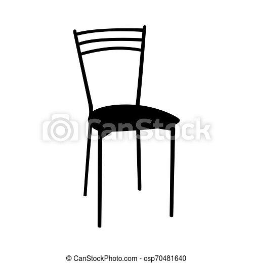chaise, silhouette - csp70481640