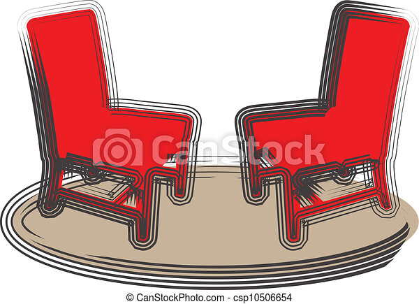 chaises, illustration - csp10506654