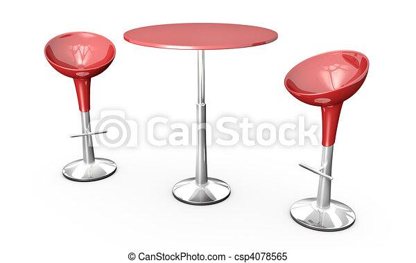 chaises table barre rendu barre image chaises moderne deux arri re plan table blanc. Black Bedroom Furniture Sets. Home Design Ideas