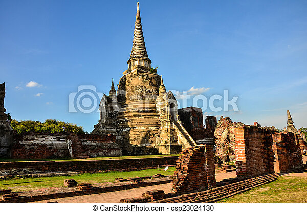 Chaiwatthanaram temple in Ayutthaya Historical Park , - csp23024130