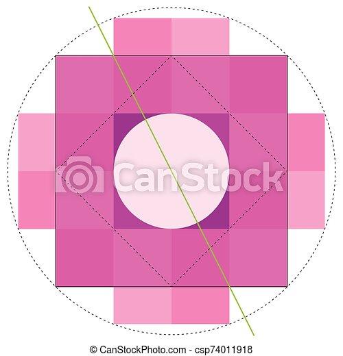 chakana, immagine, croce, fondo., andino, importante, la maggior parte, metodo, bianco, simbolo, costruzione, cultura, quadrato, vettore - csp74011918