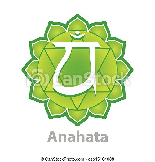 Chakra anahata isolated on white vector - csp45164088