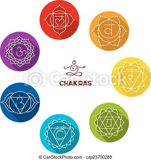 Chakra color flat set - csp23700288