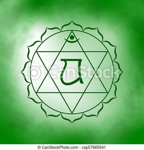 Chakra, corazón, cuarto, -, anahata. Corazón, siete, buddhism ...