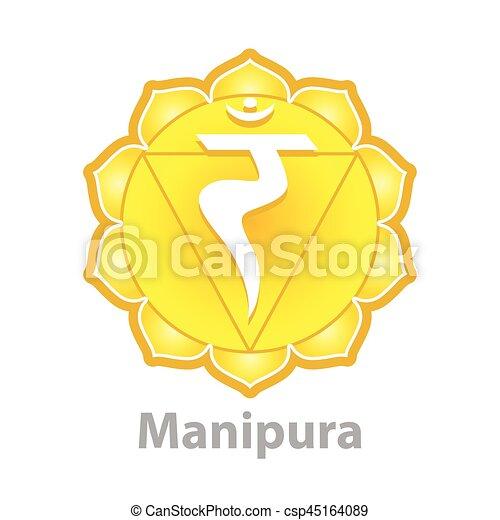 Chakra manipura isolated on white vector - csp45164089