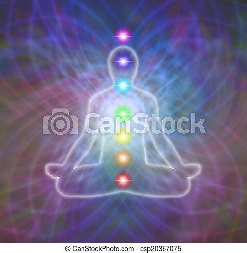 Chakra matrix meditation - csp20367075