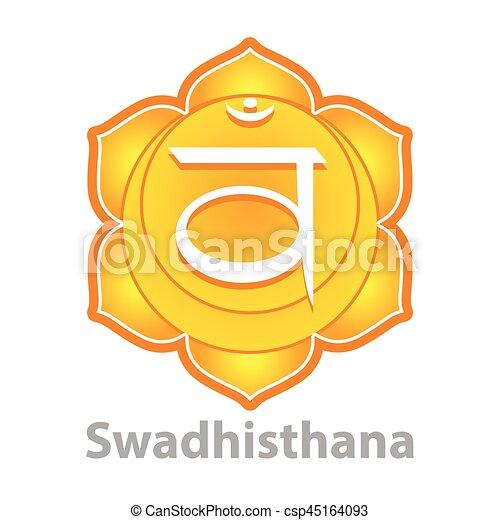 Chakra swadhisthana isolated on white vector - csp45164093