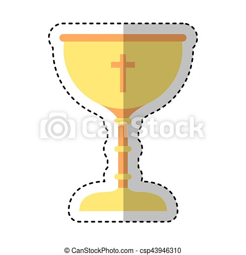 chalice first communion icon vector illustration design