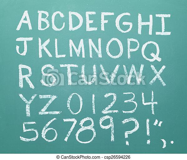 Chalk Alphabet - csp26594226
