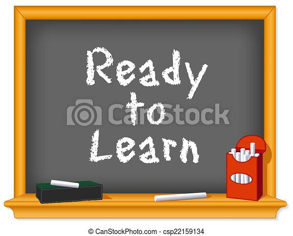 Chalk board, Ready to Learn - csp22159134