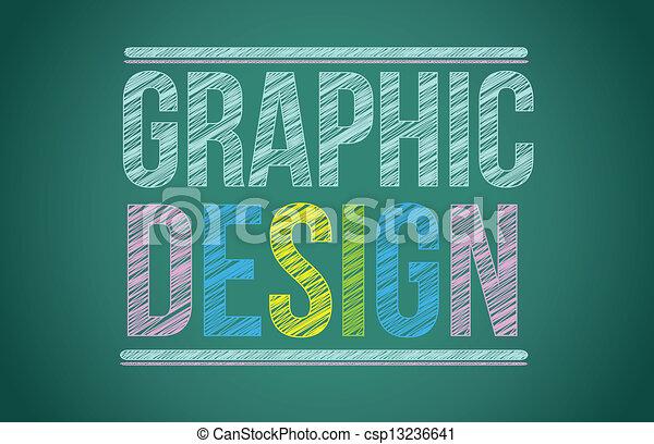 chalk board with graphic design written - csp13236641