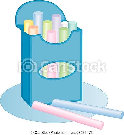 Chalk box, pastels - csp23238178