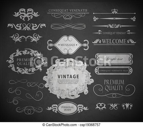 Chalk design - csp19368757