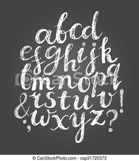 Chalk latin script font. - csp31720373