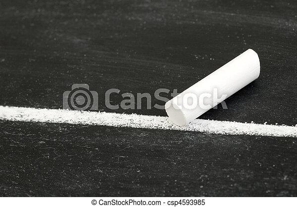 Chalk on Line - csp4593985