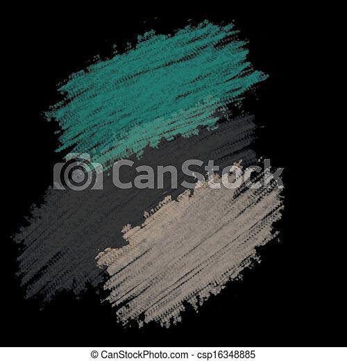 chalk texture on black background - csp16348885