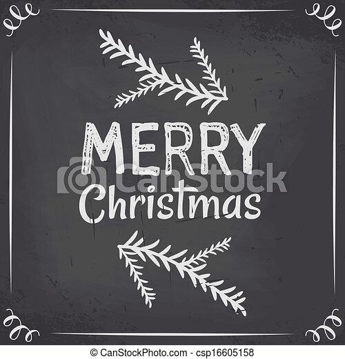 Chalkboard Christmas Design - csp16605158